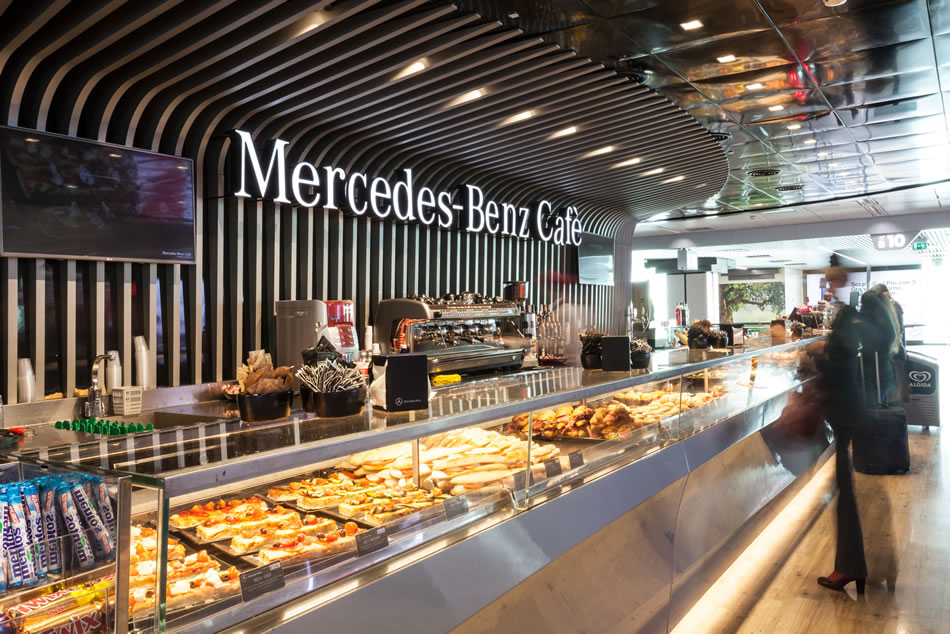 mercedes benz cafe fiumicino roma