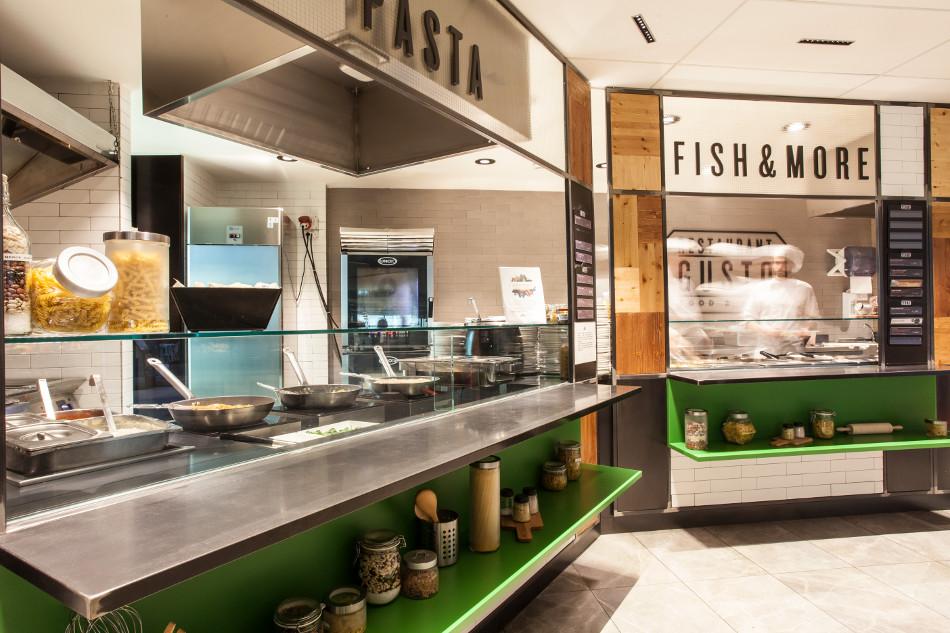 Arredamento ristorante gusto food wine aeroporto for Isa arredamenti