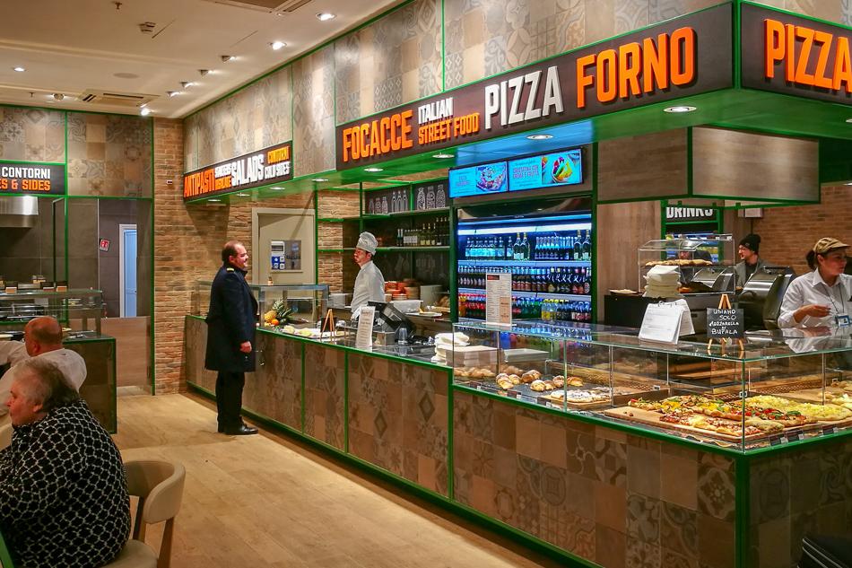 Arredamento ristorante bar semplicemente roma aeroporto for Isa arredamenti